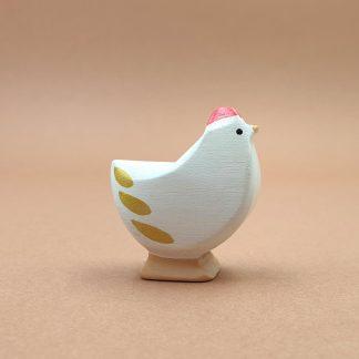 Poule blanche debout